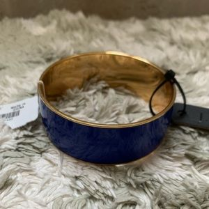 NWT J. Crew Blue Gold Bangle Bracelet 💙